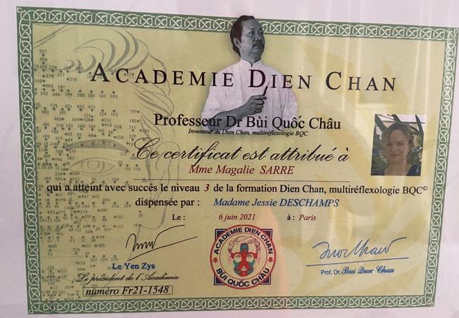 diplôme Dien-chan