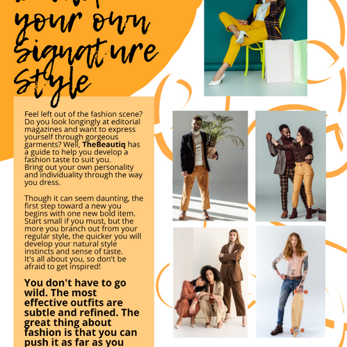 How to develop your own signature fashion style