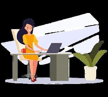 mulher-de-negocios-trabalhando-em-um-com