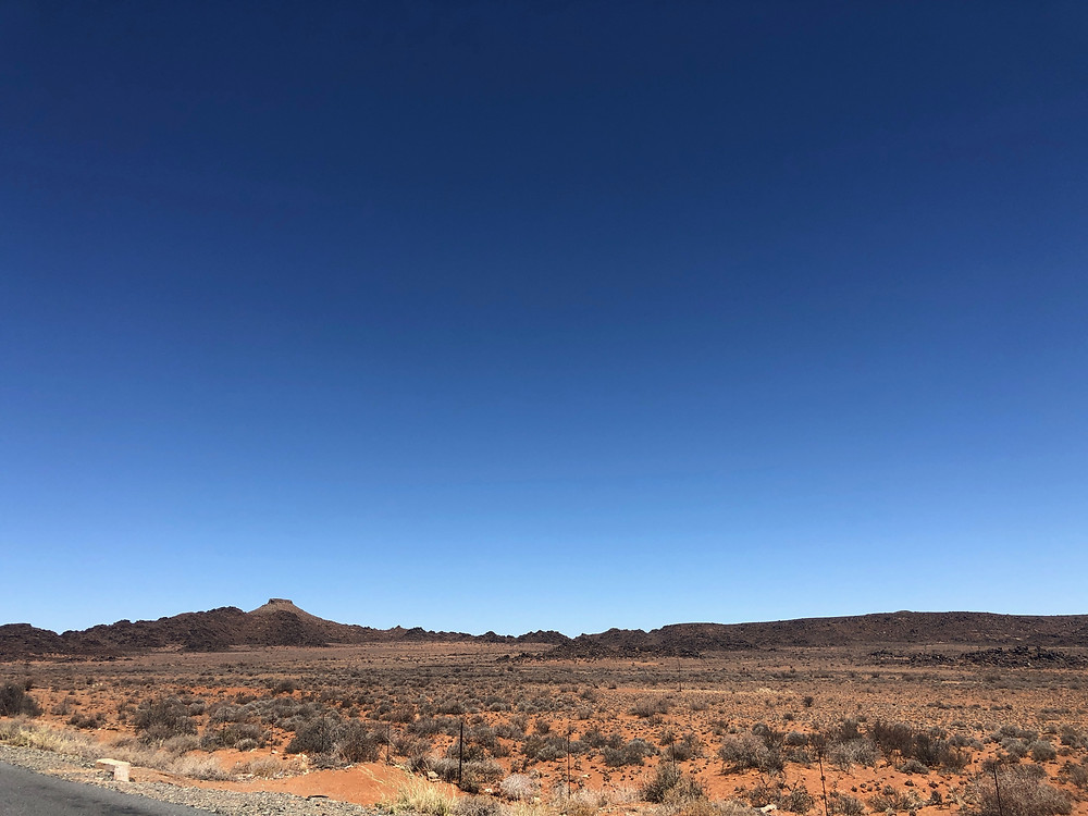 Arid, desolate, Karoo landscape, koppie, dolerite, blue sky, african sky, adventure motorcycle, 4x4 tour, motorcycle tour