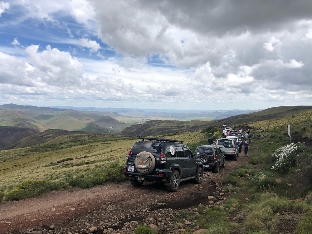 4x4, adventure, adventure offroad, sky, clouds, Lesotho, Prado, Suzuki, Toyota, Rhodes, Barkley East, War Trail, Volunteershoek pass