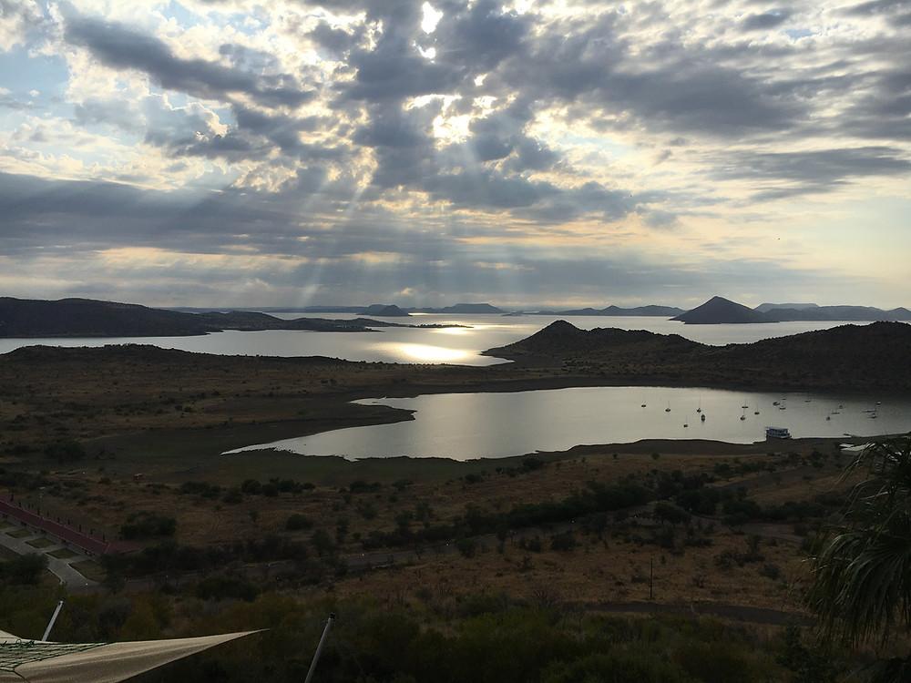 !Gariep dam, Gariep dam, Sunset over a Karoo dam, Karoo skyline, Karoo scenery, Karoo mountains, Karoo sunset, biggest dam