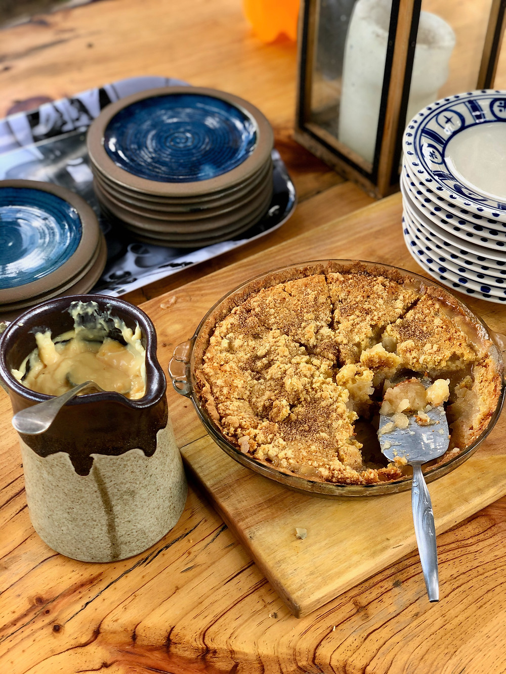 Bidstone Cottages, Apple pie, Apple crumble, custard, Barkley East, Rhodes, Eastern Cape