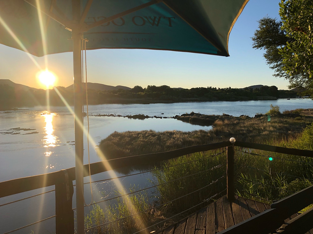 Orange River, Banks of the Orange River, Sunset over the Orange River, Waschbank River Lodge, Karoo Hospitality