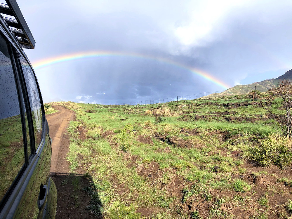 SA Adventure, Rainbow, 4x4, off-road, silver linings, end of the rainbow, gravel road, new beginnings