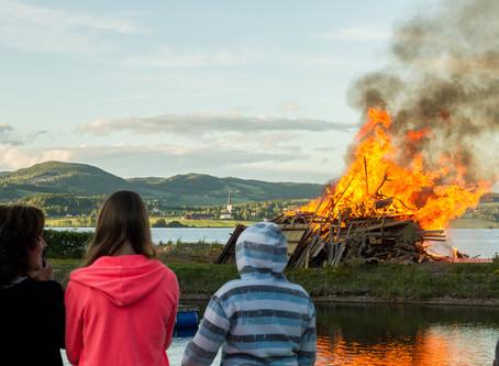 20. juni - St. Hans på Sveastranda Camping