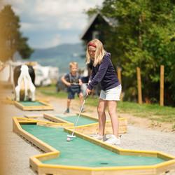Minigolf konsentrert Sveastranda Camping