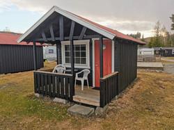 Hytte 11 utsiden Sveastranda Camping