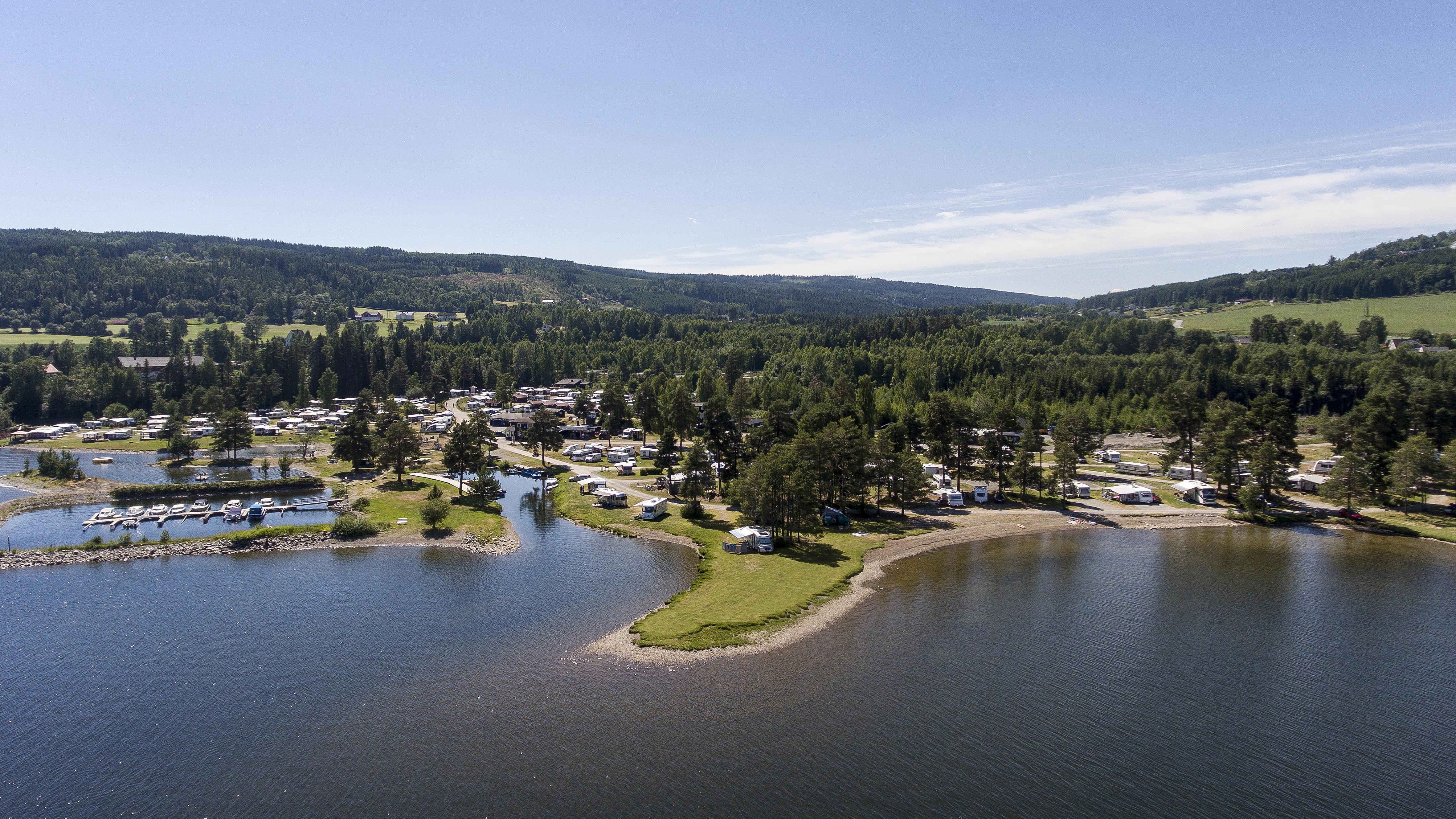 Badestrand mjøsa Sveastranda Camping