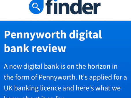 Finder UK - Pennyworth digital bank review