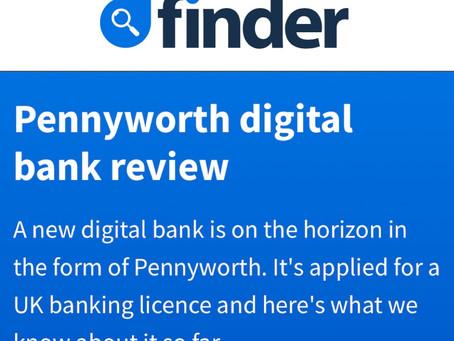 Finder UK - Pennyworth digital bank review
