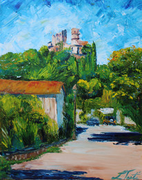 CHATEAU GRIMAUD FROM ROAD