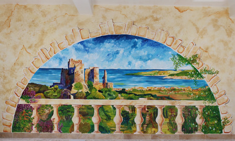 MURAL: CHATEAU WITH GOLFE