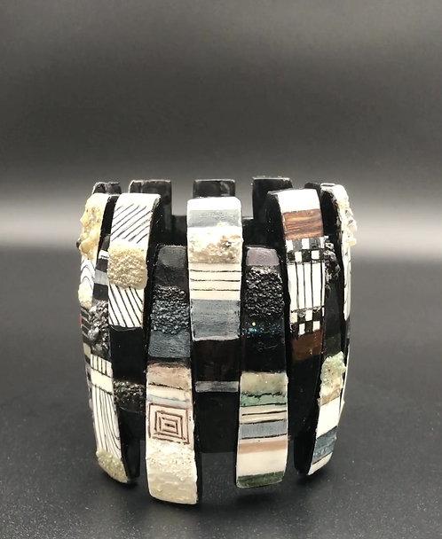 Textured Geometric Stretch Bracelet II