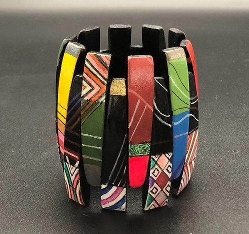 Multi Graphic/ Color Stretch Bracelet