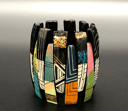 Multi Graphic/ Color Stretch Bracelet II