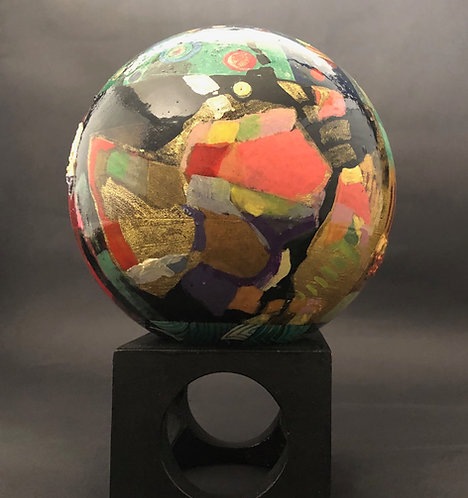 "6"" Cosmic Abstract Sphere"