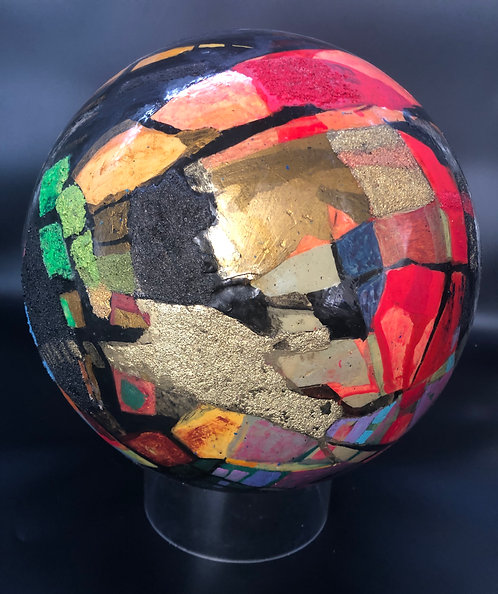 """Large 12"""" Diameter Abstract Sphere"""