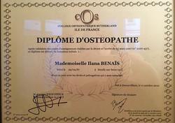 Ilana BENAÏS Ostéopathe D.O.