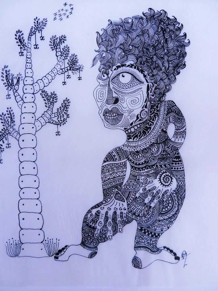 Art Singulier Peinture Noir & Blanc