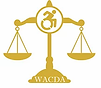 WACDA logo of level scales with a person in a wheelchair in the middle