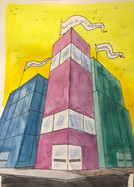 City Corner in 3 Point Perspective