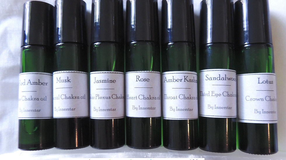 Chakra essential oil collection - set of 7 oils