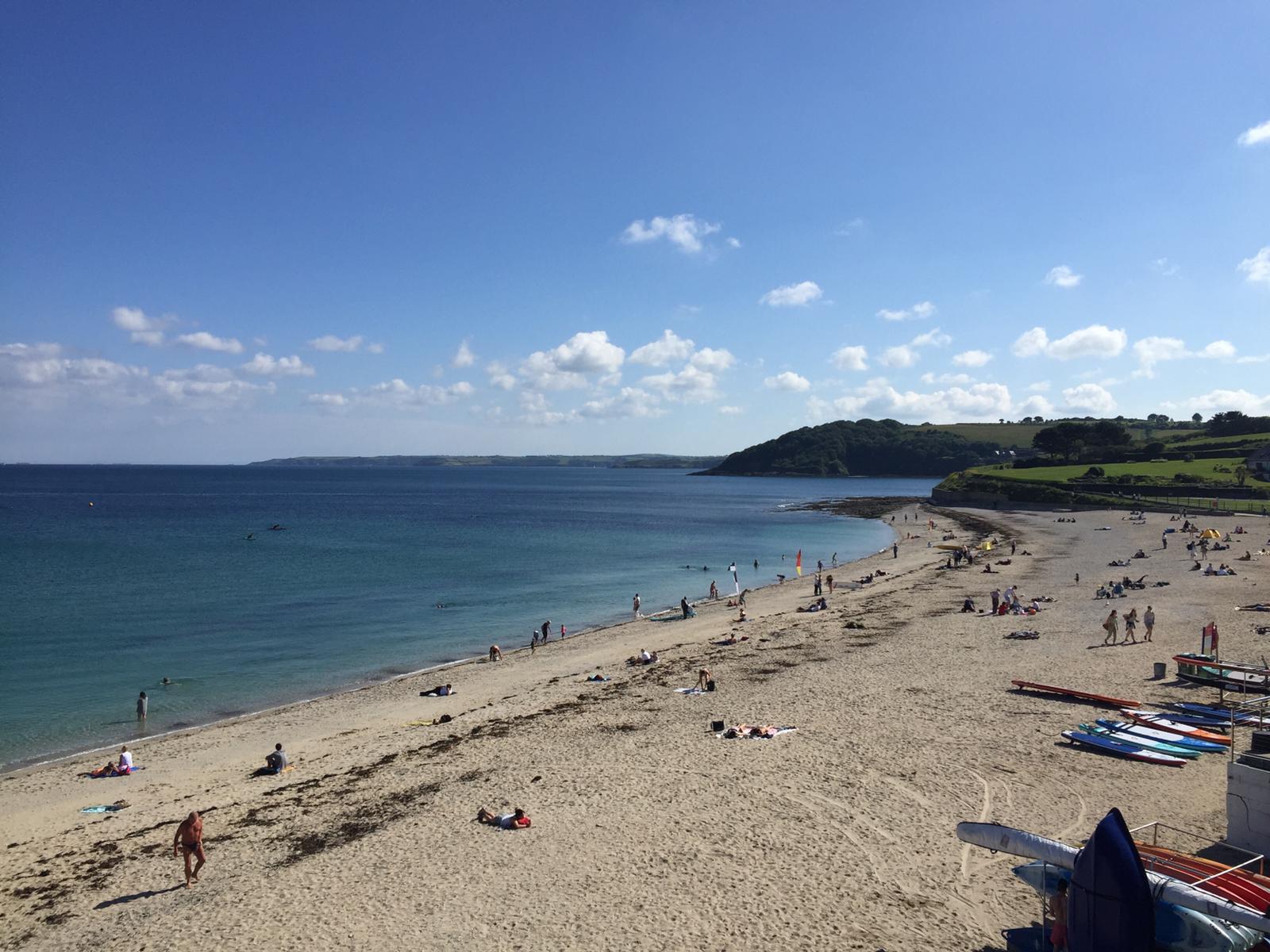 Gyllyngvase Beach (2 minutes walk from property)