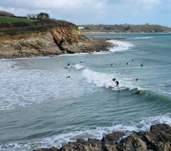 Surfers at Swanpool Beach
