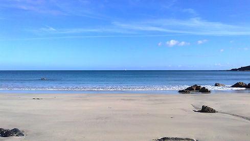 Beach in Cornwall UK