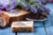 Lavender spa setting. Wellness theme wit