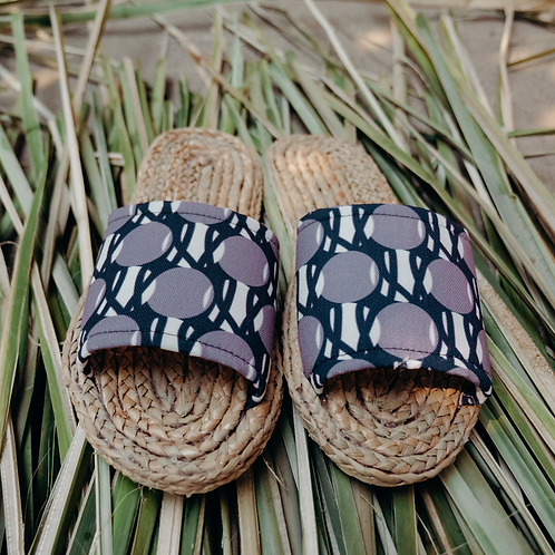 Weaved Shoes (Logo-Blue)
