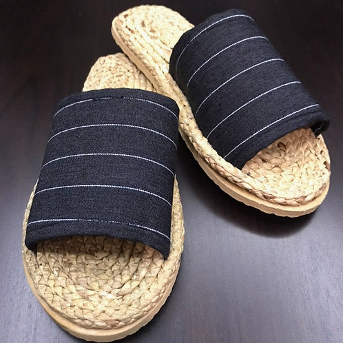 Weaved Shoes (Striped-Black)