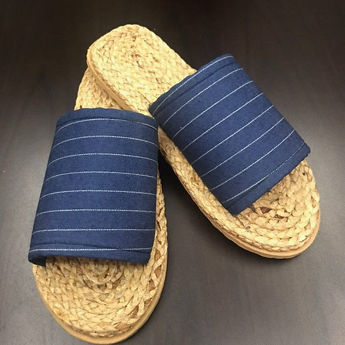 Weaved Shoes (Striped-Blue)