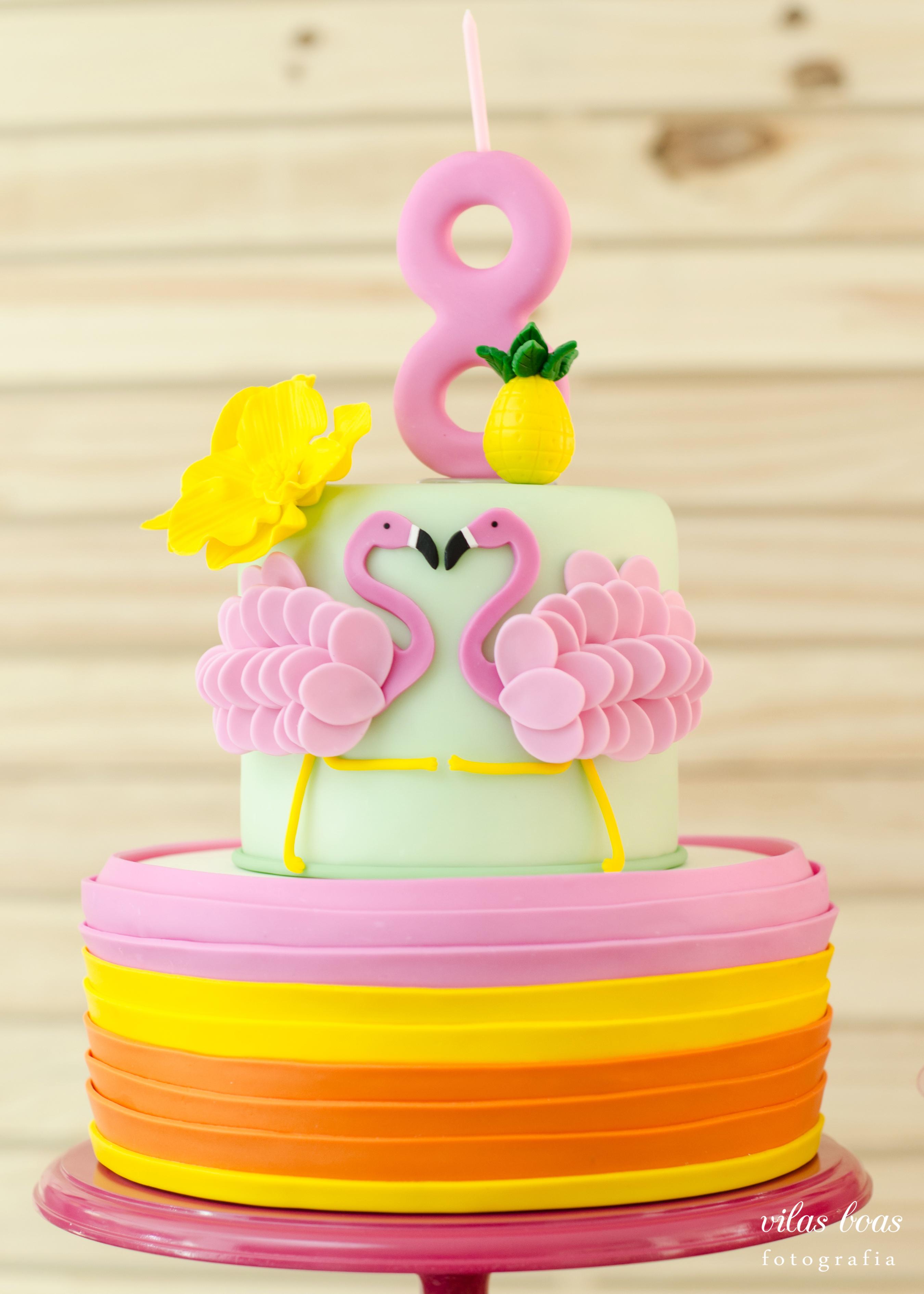 Bolo Flamingos