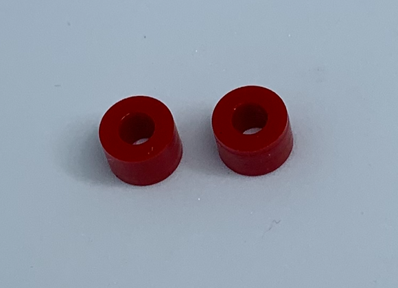 .333 Diameter rear silicone tires Red