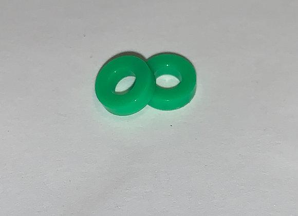 .353 Diameter skinny silicon tires Green