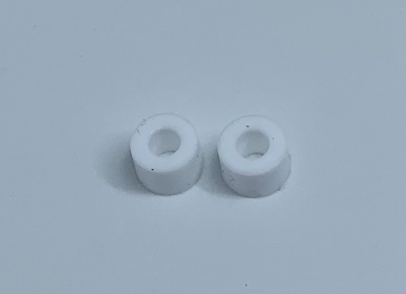 .333 Diameter Silicone Rear tires White