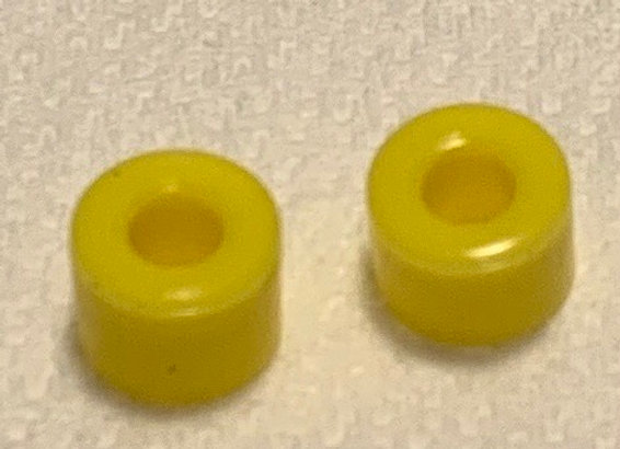 .337  Diameter Firm silicone tires Yellow