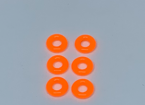.007 Front O-ring tires Neon Orange