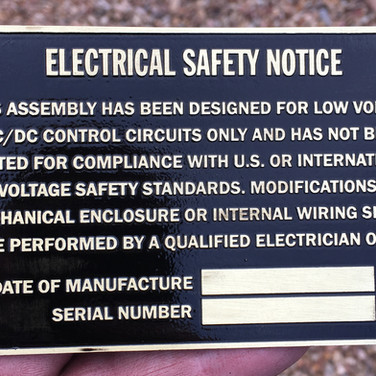 Custom Electrical Safety Plate