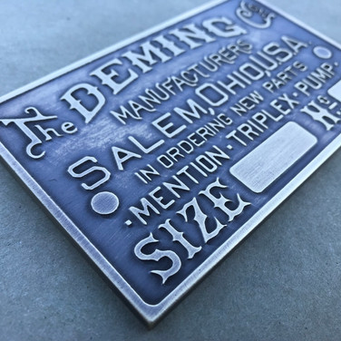 Deming Triplex Pump Plate