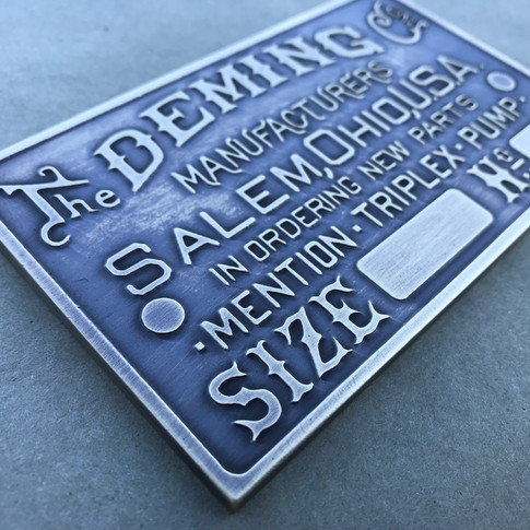 Deming Triplex Pump Plate