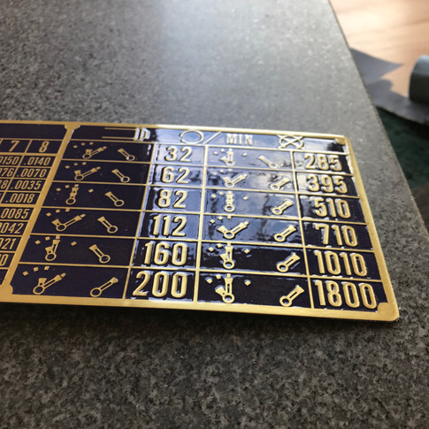 Vintage Mori Seiki Gearbox Plate