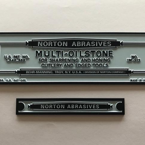 Vintage Norton Multi-Oilstone Plate Set