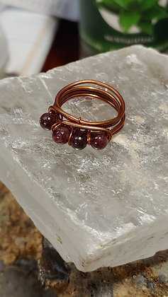 Garnet Copper Ring