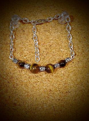 Tiger's Eye Tennis Bracelet