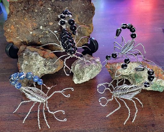 Wire wrapped scorpions