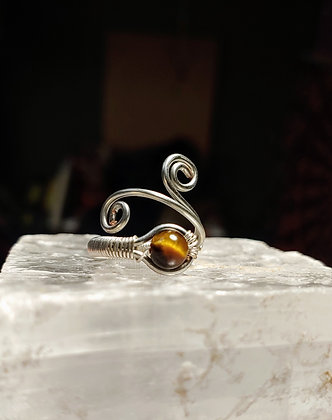 Tiger's Eye In silver