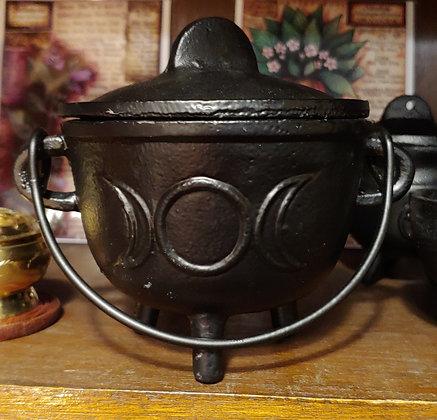 Black Cauldron- Cast Iron - 4.5 in. Triple Moon